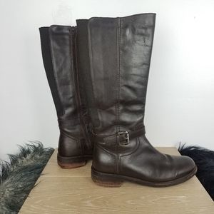 Clarks   Tall Riding Style Boots Dark Brown 7